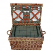 Four Person Tweed Fitted Picnic Basket 1
