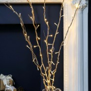 Gold Willow Twig Lights 5