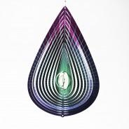 Purple Teardrop Glow Ball Wind Spinner  4