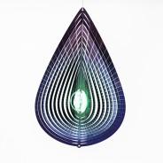 Purple Teardrop Glow Ball Wind Spinner  5