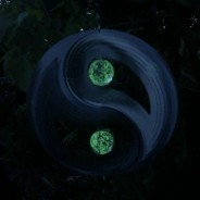 Two Ball Yin and Yang Glow Ball Wind Spinner  3