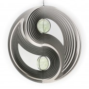 Two Ball Yin and Yang Glow Ball Wind Spinner  6