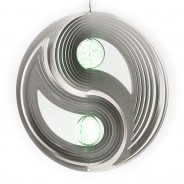 Two Ball Yin and Yang Glow Ball Wind Spinner  5