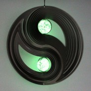 Two Ball Yin and Yang Glow Ball Wind Spinner  4
