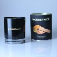 Wonderwick Sandalwood Noir Glass Candle 1