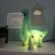 Wood Effect Diplodocus Lamp 1