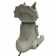 Wood Effect Sitting Triceratops Lamp 7