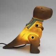 Wood Effect T-Rex Lamp 5
