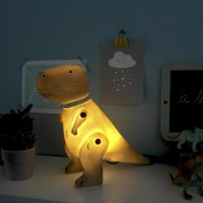 Wood Effect T-Rex Lamp 1