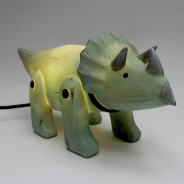 Wood Effect Triceratops Light 3