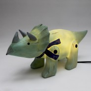 Wood Effect Triceratops Light 4