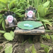 Woodland Fairy Garden Accessories 3 Table & Chairs