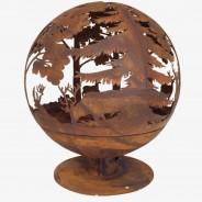 Laser Cut Woodland Fire Globe (FF261) 3