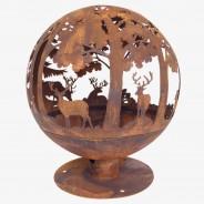 Laser Cut Woodland Fire Globe (FF261) 2
