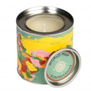 World Map Musk Scented Candle 2
