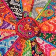 Indian Embroidered Yoga Meditation Cushion 2