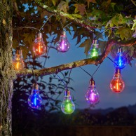 Solar Neonesque Light Bulb Fairy Lights