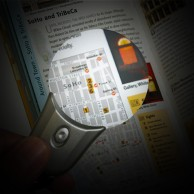"""2"""" Lighted Magnifier Pendant"""