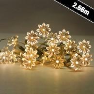 20 LED Sunflowers Warm White (16541)