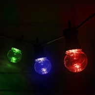10 Multi Colour Clear Cap Festoon Lights