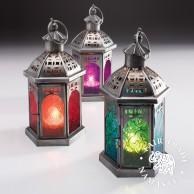 20cm Tonal Glass Lantern