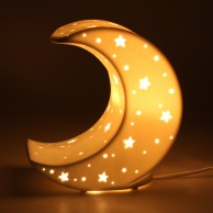 3D Ceramic Lamp Moon