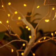50cm Battery Operated White Tree Lamp