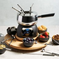Deluxe 6 Person Fondue Set by Artesa
