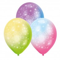 Fireworks LED Latex Balloons (4 pack)