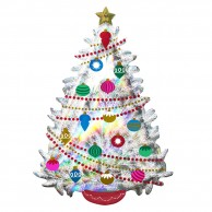 Super Shape 91cm Iridescent Christmas Tree Balloon