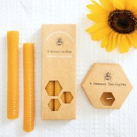 Beeswax Tealights & Dinner Candles