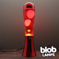 BIG BLOB Metallic Red Lava Lamp - White/Red