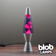 """VINTAGE Blob Lamp - Metal Lava Lamp 14.5"""" - Pink/Purple"""