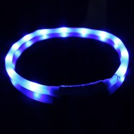 Blue Rechargeable Flashing Band for Dogs