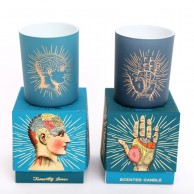 2 x Boxed Phrenology and Palmistry Scented Candle Set