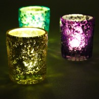Indian Styled Glass Tealight Holders (3 Pack)