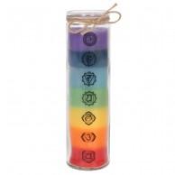Tall Glass Chakra Candle