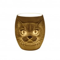 Cat Face Porcelain Tealight Holder