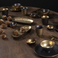 Ceylon Black and Gold Ceramics