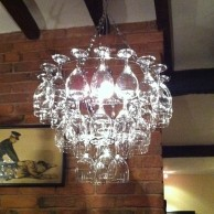 Vino Wine Glass Chandelier