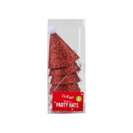 6 x Glittered Party Hats