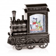 Glitter Water Spinner Christmas Train