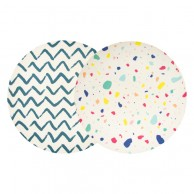 Colourful Bamboo Plates 23cm (2 pack)
