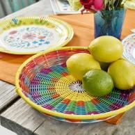 Colourful Boho Woven Tray