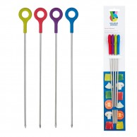 4 x Silicone Finished Skewers by Colourworks