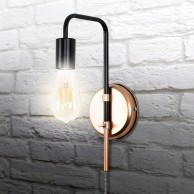 Single Bulb Copper Wall Light Fitting