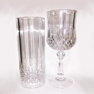 Crystal Effect Plastic Glasses - 2 Pack