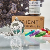 Diffuser Necklace - Dragonfly 25mm (04)