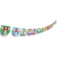 Birthday Party Pants Bunting