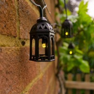 Elan Solar Moroccan Lantern Fairy Lights